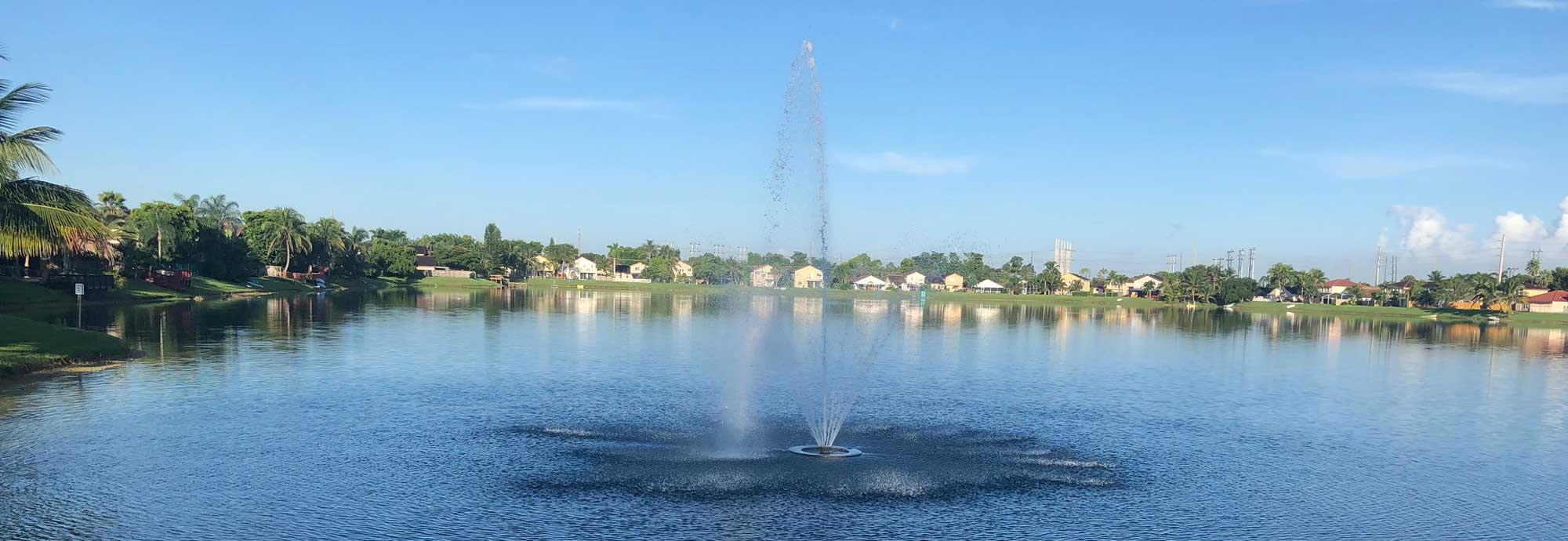 One of the lakes at Bonita Lakes